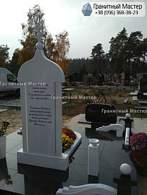 Памятник из гранита и мрамора молодой девушке. Сумская обл. г. Ахтырка 7