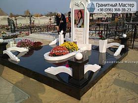 Памятник из гранита и мрамора молодой девушке. Сумская обл. г. Ахтырка 3