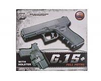 Страйкбольный пистолет Глок 17 (Glock 17) Galaxy G15+ с кобурой, фото 1