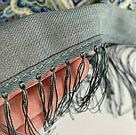 Розмарин 1850-1, павлопосадский платок шерстяной  с шелковой бахромой, фото 7