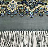 Розмарин 1850-1, павлопосадский платок шерстяной  с шелковой бахромой, фото 5