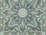 Розмарин 1850-1, павлопосадский платок шерстяной  с шелковой бахромой, фото 8