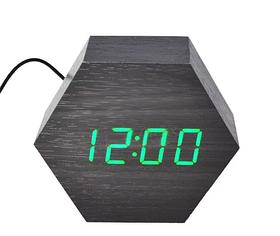 Настольные часы VST-876-5 с синей подсветкой