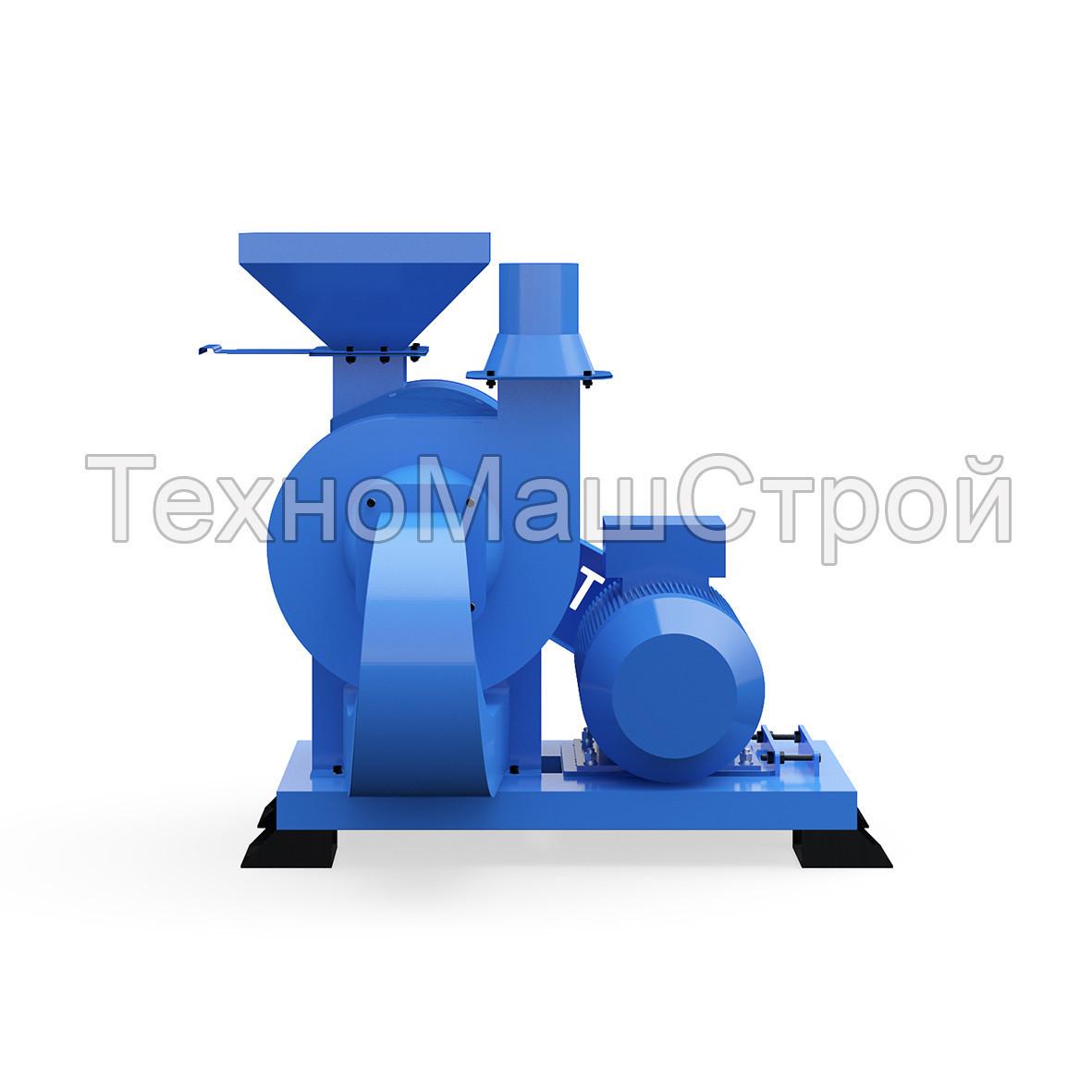 Дробилка сырой древесины и зерна, CHOPPER-600, 30кВт, ДКУ