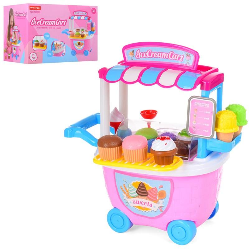 Игровой набор Мой Магазин Сладостей и Мороженого  прилавок - тележка, мороженое, 5D509