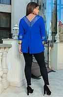 Женский костюм с удлиненной ажурной туникой, с 50-60 размер, фото 1