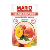 Крем-мило Mario 460 мл Персик дой-пак.