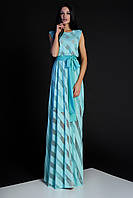 Женское элегантное платье, бирюзовое, молодёжное, нарядное, вечернее, макси, праздничное, длинное
