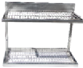 Сушка для посуды из н/ж стали (1 пластик.поддон) 600х325х510мм