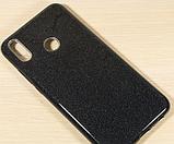 Силиконовый чехол с блестками для Huawei Honor 8X /  Есть стекло, фото 3