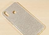 Силиконовый чехол с блестками для Huawei Honor 8X /  Есть стекло, фото 5