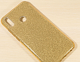 Силиконовый чехол с блестками для Huawei Honor 8X /  Есть стекло, фото 4