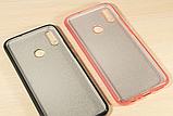 Силиконовый чехол с блестками для Huawei Honor 8X /  Есть стекло, фото 6
