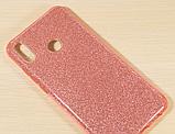 Силиконовый чехол с блестками для Huawei Honor 8X /  Есть стекло, фото 7