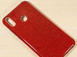 Силиконовый чехол с блестками для Huawei Honor 8X /  Есть стекло, фото 8