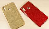 Силиконовый чехол с блестками для Huawei Honor 8X /  Есть стекло, фото 9