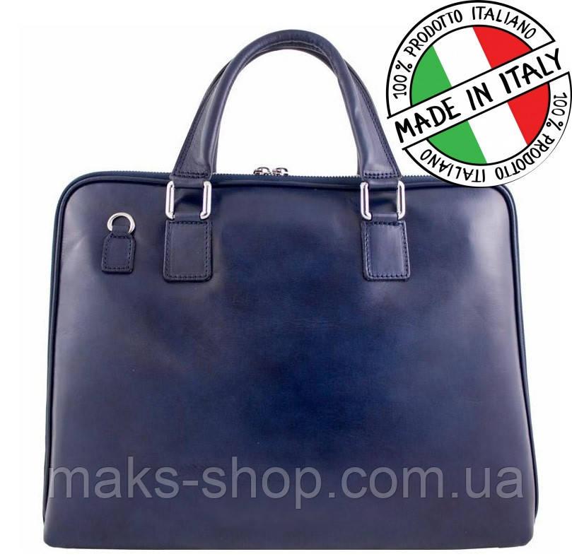 e7d6699f3612 Кожаный деловой портфель Bottega Carele Италия синий - Maks Shop- надежный  и перспективный интернет магазин
