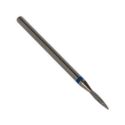 Алмазная фреза пламя 16мм (синяя) тупой носик