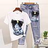 Женский костюм: джинсы и футболка в расцветках, р-р 42-48. АР-9-0419, фото 2