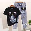 Женский костюм: джинсы и футболка в расцветках, р-р 42-48. АР-9-0419, фото 3