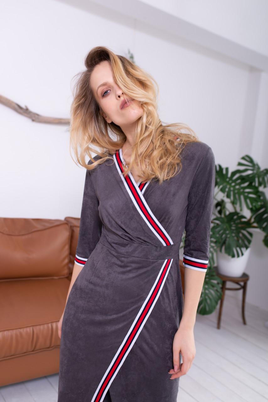 Платье LiLove 42-553 48-50 графит