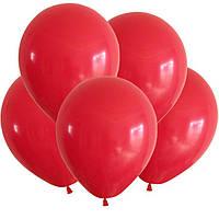 """Воздушные шары 100 шт латексные, цвет красный  5""""(13 см)Италия"""