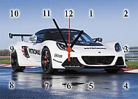 """Часы настенные стеклянные авто """"Lotus"""", фото 1"""