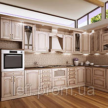 Кухня с фасадами из МДФ в плёнке на фурнитуре Linken System или GTV