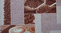 Обои бумажные мойка  Шарм 0,53*10,05  кухня, декор кофе