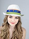 Шляпа трилби белая, фото 2