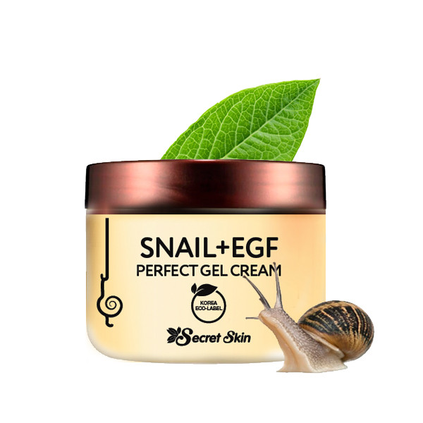 Крем-гель для лица с муцином улитки Secret Skin Snail + EGF Perfect Gel Cream