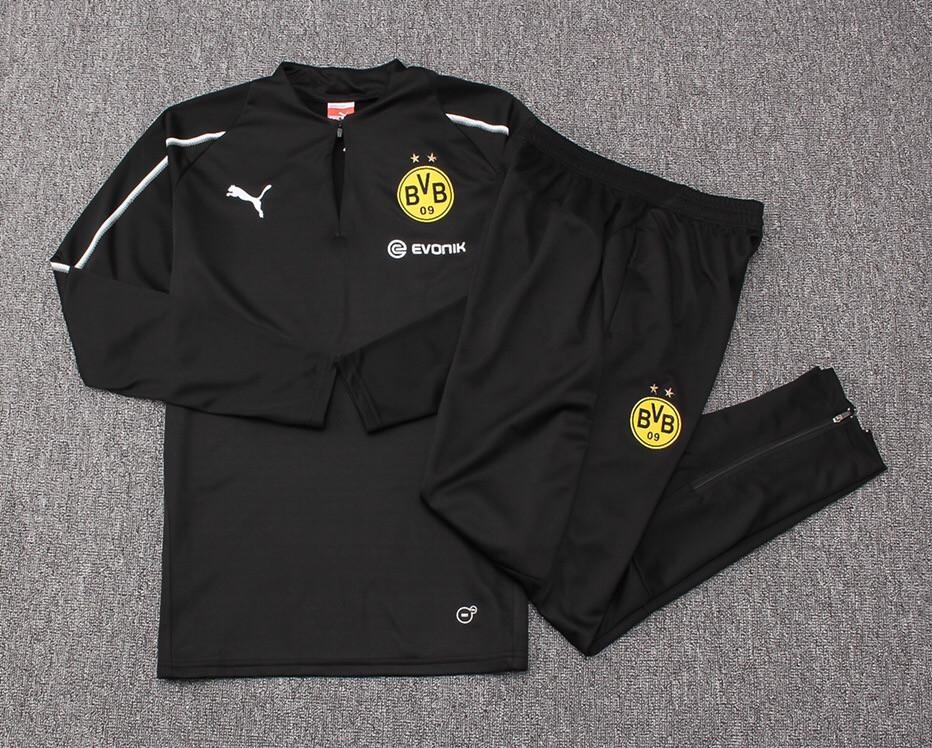 Костюм тренировочный Боруссия Дортмунд (сезон 2018-2019) черный