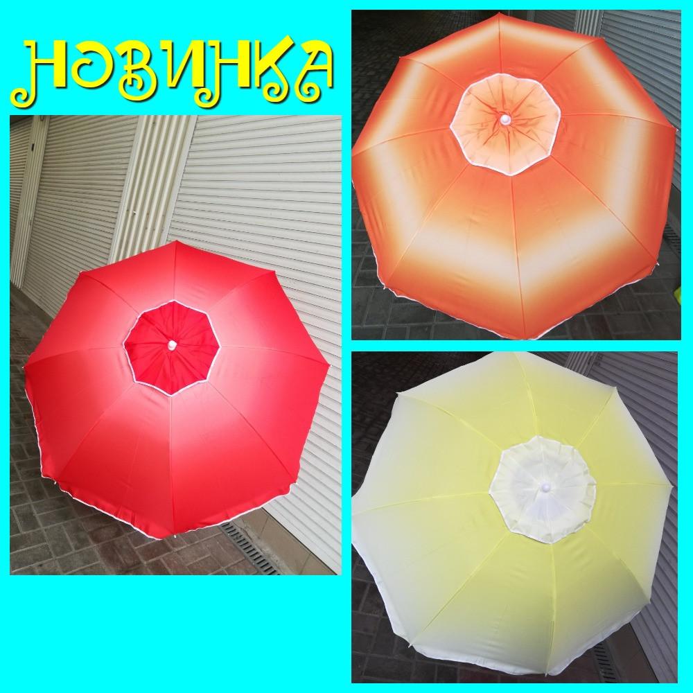 Зонт пляжный с наклоном и клапаном (брезентовый) 1,55м