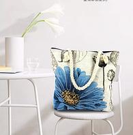 Женская повседневная сумка из ткани с ярким летним принтом