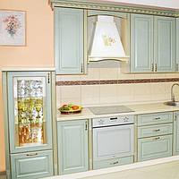 Кухня с фасадами из МДФ в плёнке на фурнитуре Blum или Hettich