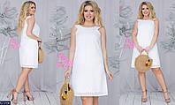 Женское хлопковое платье-сарафан прошва 48, 50, 52, 54 (расцветки)