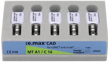 Блоки IPS e.max CAD Cerec/inLab CAD / CAM, C14 5штук/упаковка