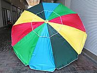"""Зонт торговый """"Радуга"""" 3м (с напылением и клапаном)"""
