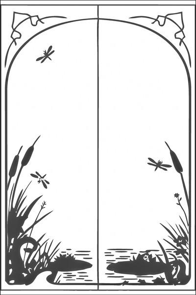 Пескоструйные рисунки на 2 двери