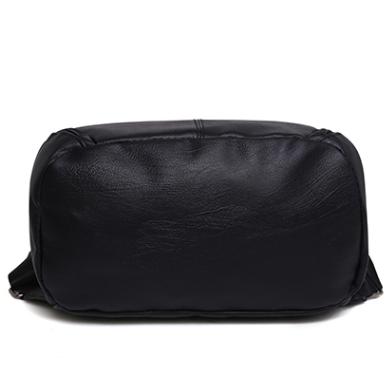 Рюкзак PU кожзам женский чёрный