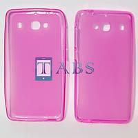 Чехол силиконовый TPU матовый Xiaomi Redmi 2 (HongMi 2, Red Rice 2) розовый + Защитная пленка
