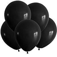 """Воздушные шары 100 шт латексные, цвет черный 5""""(13 см)Италия"""