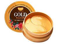 Гидрогелевые патчи для глаз с золотом и маточным молочком Petitfee Gold Royal Jelly Eye Patch 60 шт.