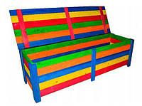 Деревянный ящик с крышкой разноцветный, фото 1