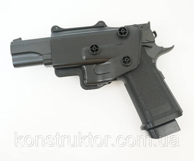 Страйкбольный пистолет Galaxy G6+ (Colt M1911) с кобурой купить
