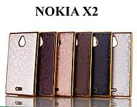 Чехол Chrome Gold для Nokia X2