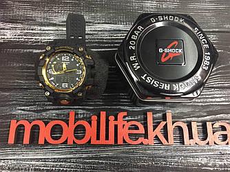 Часы G-Shock Gold с кнопкой копия LUX