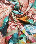 10527-2, павлопосадский платок из вискозы с подрубкой, фото 7