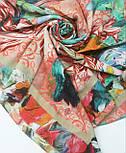 10527-2, павлопосадский платок из вискозы с подрубкой, фото 8