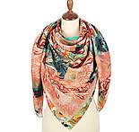 10527-2, павлопосадский платок из вискозы с подрубкой, фото 2